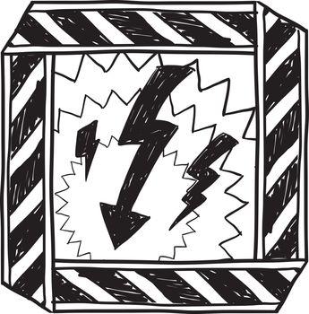 Electrical hazard sketch