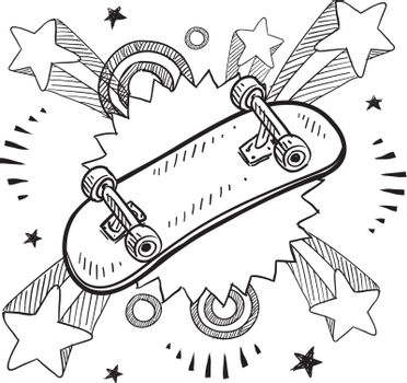 Skateboard excitement vector