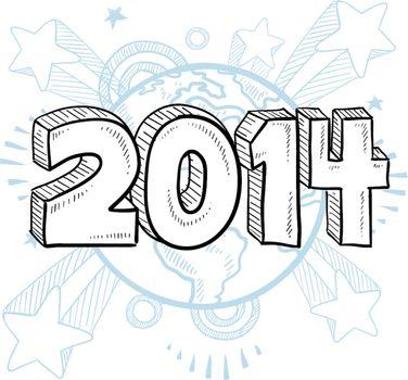 2014 excitement vector