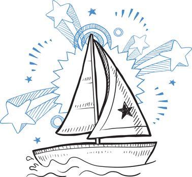 Sailboat excitement vector