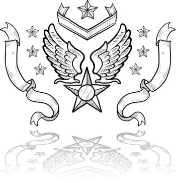 US air force vector crest