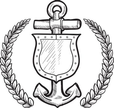 Maritime insignia shield in vector format