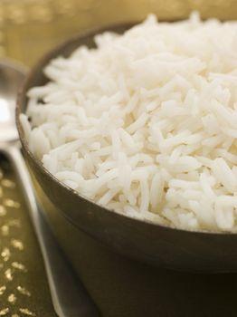 Bowl of Plain Boiled Basmati Rice