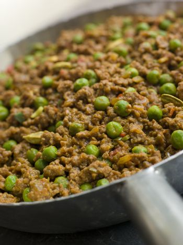 Keema Curry and Peas