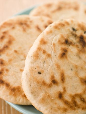 Plate of Plain Naan Breads