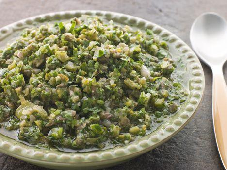 Dish of Salsa Verde