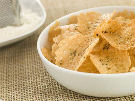 Dish of Parmesan Crisps