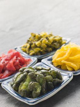 Selection of Pickled Vegetables