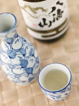 Sake Bottle Jug and Cup