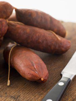 Strings of Chorizo Sausage