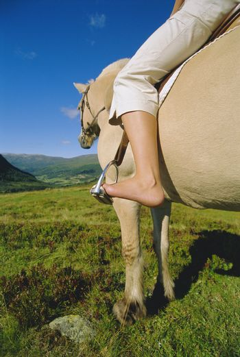 Young woman on horse