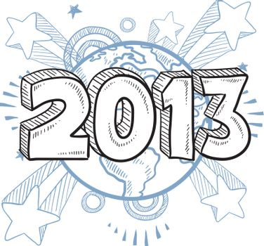 2013 year excitement vector