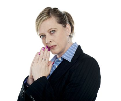 Portrait of thoughtful businesswoman