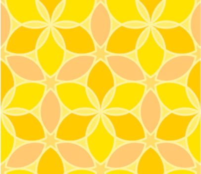 Seamless vector geometric yellow pattern