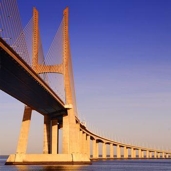 Vasco da Gama bridge, Lisbon, Portugal