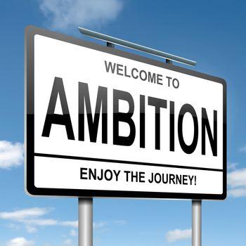 Ambition concept.