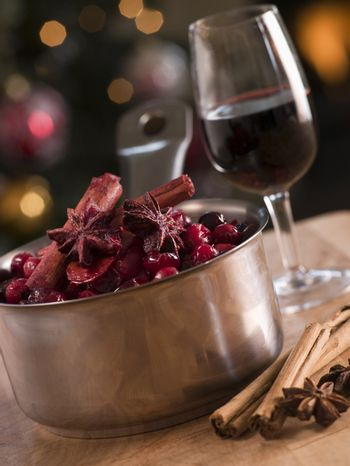 Cranberry Sauce and Ingredients