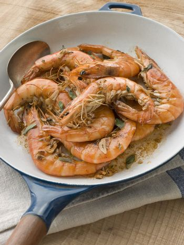 Mediterranean Prawns cooked in Pastis
