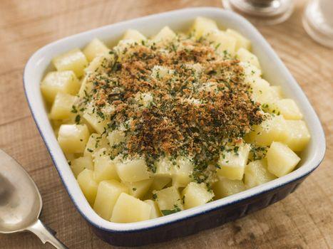 Dish of Demonico Potatoes