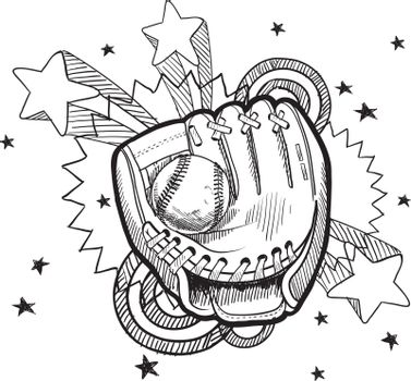 Baseball excitement sketch