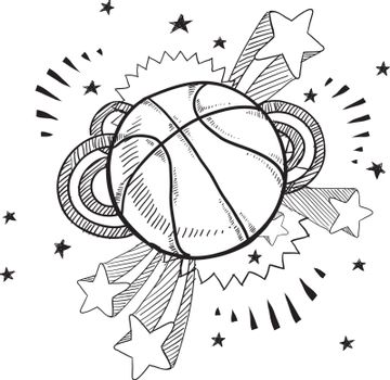 Basketball excitement sketch