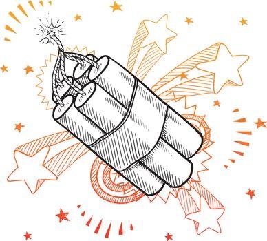 Dynamite excitement sketch