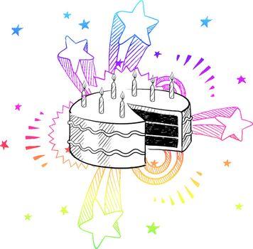 Birthday excitement sketch