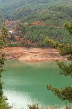 Views of the azure lake