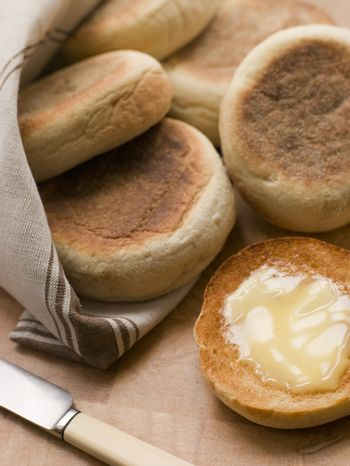 Toasted English Muffins with Butter