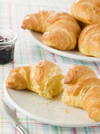 Plate of Croissants with Preserve