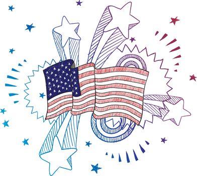 American patriotism sketch