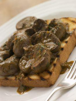 Devilled Lambs Kidneys on Toast