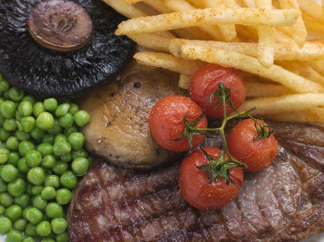 Sirloin Steak Chips and Grill Garnish