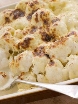 Dish of Cauliflower Cheese