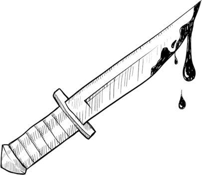 Bloody knife sketch
