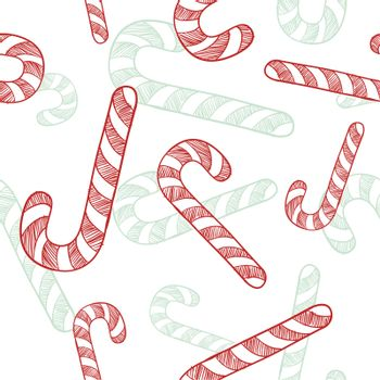 Seamless candy cane background