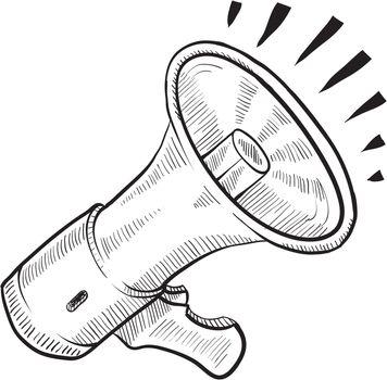 Electric bullhorn megaphone sketch