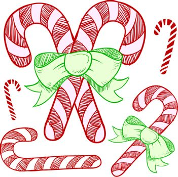 Holiday candy cane sketch