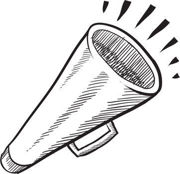 Bullhorn megaphone sketch