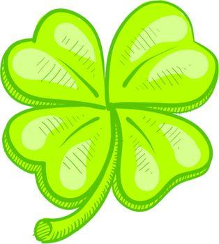 Luck four leaf clover sketch
