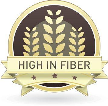 High in fiber food label