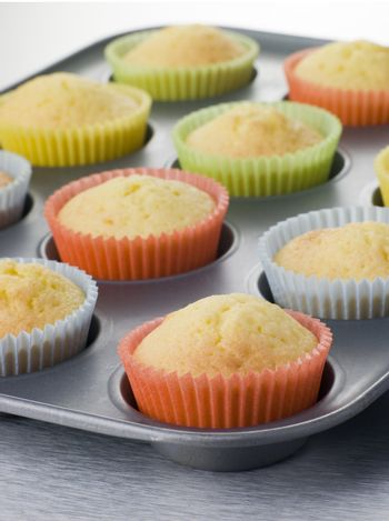 Cup Cakes in a Cup Cake Tray
