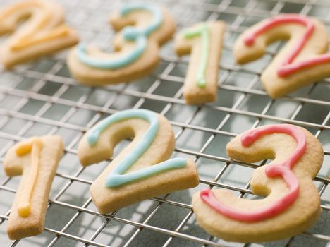 Number Shortbread Biscuits with Icing