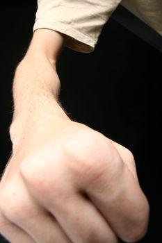 fist close-up
