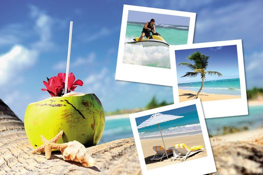 coconuts cocktail, starfish and pics