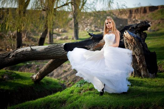 Woodland bride
