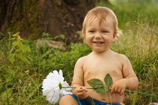 The amusing little boy