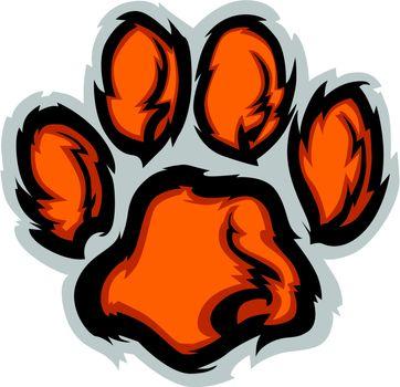 Tiger Paw Mascot Vector Illustration