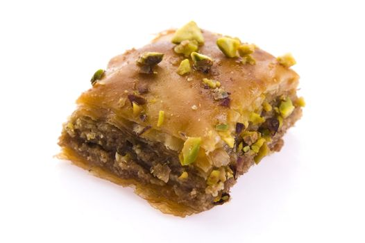 Baklava. Traditional middle east sweet desert isolated on the wh