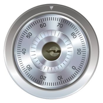 Combination lock for safe vector